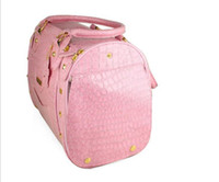 Wholesale Factory Supply Pink Dog s Pu Travel Bag Fashion Dog s Carriage Dog Pet Purse Carrier Outdoor Travel Tote Crate Bag