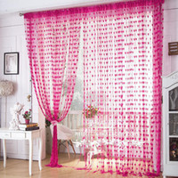 Wholesale Special Living Room Curtains Korean Heart shaped Wire Line Curtain Off the Living Room Decorative Curtain