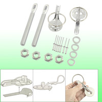 Wholesale Universal Aluminum Silver Tone Clasp Hood Pin Lock Kit for Steel Hood