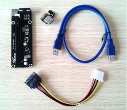 Wholesale PCI X TO X PCI E PCI for bitcoin E Express Riser Extender Adapter Card Power for Bitcoinwith cm USB Cable