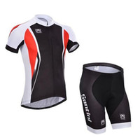 Wholesale Santini Team Cycling Jerseys Limited Edition Short Sleeves Bike Suit Colorfast Cycling Clothing Cycling Top Padded Shorts