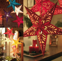 Wholesale Christmas decoration cm three dimensional laser the light cutout christmas ceiling five pointed star