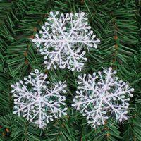 Wholesale New White XMAS Christmas Snowflake Christmas Decoration Ornaments Applique For Tree SNOWFLAKE CHRISTMAS ORNAMENT H443