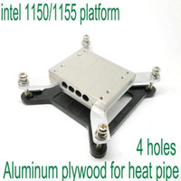 Wholesale 4holes intel platform aluminum plywood block for diameter mm heat pipe