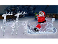 Wholesale Christmas supplies christmas decoration lights lamp luminous Deer pull carts LED
