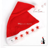 Wholesale Best gift Christmas Hat Santa Caps MERRY CHRISTMAS SANTA CLAUS HAT CAP SANTA HAT NEW Christmas Claus Red Caps