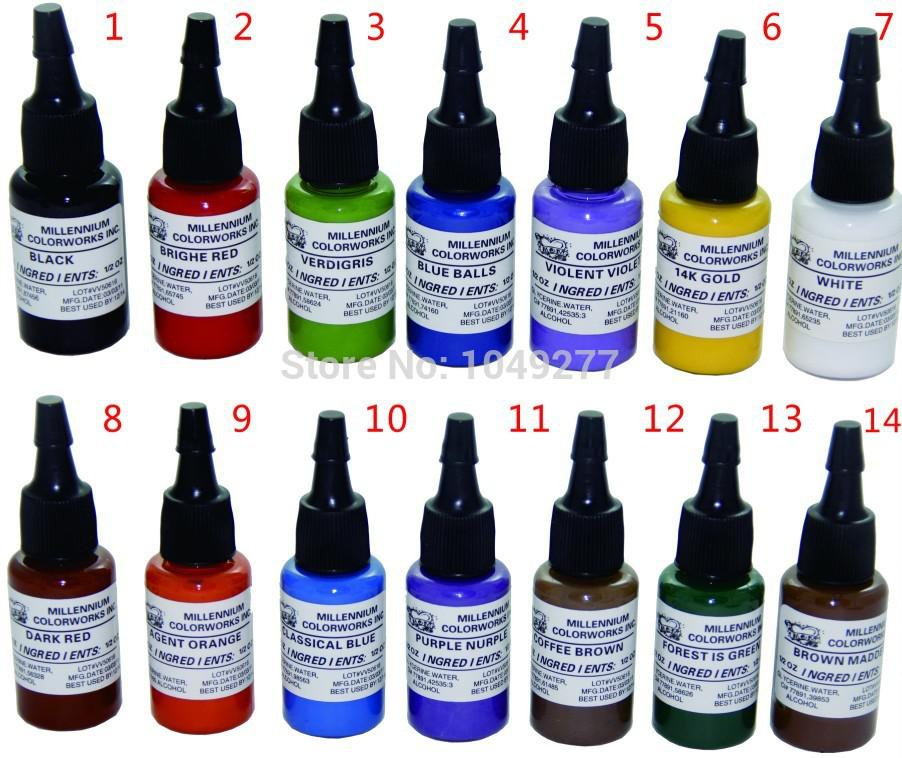 Mom 39 s 0 5 oz set professional colorful body tattoo ink for Cheap moms tattoo ink