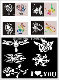 Wholesale 2014 Mixed Designs Tattoo Stencils For Body Art Painting Airbrush Tattoo Glitter Tattoo