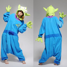 Wholesale Christmas New Year Gift toy story aliens Unisex Adult Animal Cosplay party Costume Pajamas lovely Couple Sleepwear