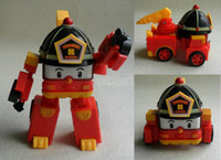Cheap Roy Fire Fighting Truck Model Car ROBOCAR POLI Deformation Robots Transforming Robot Helicopter Toys Best Christmas gift Mix Order 4pcs lot