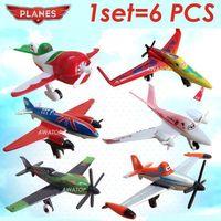 Wholesale 6pcs dusty planes pixar toy plane aircraft classic toys for children kids ishani Ripslinger Skipper Bulldog EL Chupacabra
