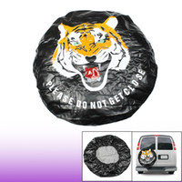 Wholesale Tiger Print Soft Faux Leather Wheel Spare Tire Cover Protector quot Dia