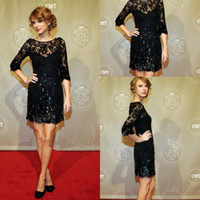 Cheap Reference Images Celebrity Dresses Best Scoop Lace prom dress