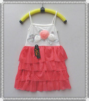 Cheap Hot Sale Discount Shop Sell Online China Wholesale Vogue Fashion Hot Girls in Children Two-piece Dress Strap Dress Wholesale Kids B29128