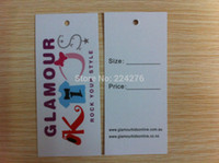 Wholesale MOQ OEM swing tag for clothing full color printing t shirt tags