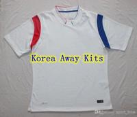 Cheap Brand-Wholesale - Korea National Team White Away Soccer Kits FIFA2014 World Cup Jerseys Thailand Quality Cheap Custom Football Jersey Breath