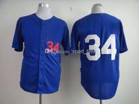 Cheap Wholesale - Brand Jerseys Dodgers #34 Valenzuela Black Fashion Jersey Cheap Baseball Uniform High Quality Stitched Outdoor Sports Jersey Bas