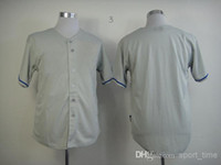 Wholesale Los Angeles Dodger Grey Men s Blank Baseball Jerseys Newest Brand Stitched Baseball Uniform Top Quality Discount Outdo