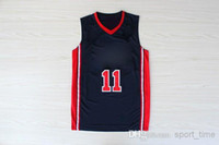 Cheap Wholesale - 1992 USA Olympic Jerseys Dream Team One #11 Karl Malone Navy Blue Men's Embroidered Basketball Jerseys 2014 Top Selling Hig