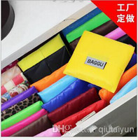 Wholesale 2014 HOT color New Fashion Foldable Waterproof Storage Eco Reusable Shopping Tote Bags Quality shopping bag pouch Good quality A H395