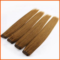Wholesale Brazilian Virgin Hair Straight Light Brown Extension Weft Weaving A Unprocessed Indian Peruvian Human Remy Hair