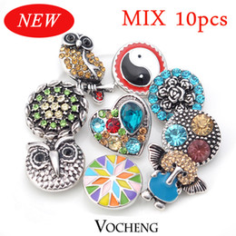 Wholesale Ginger Snap Buttons Charms Jewelry Mix Sales10pcs bag Free to Choose Vn