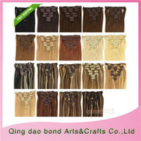 Wholesale Cheap Clip in Hair Extensions Human Hair Can be Curled and Permed Premium Indian Remy Hair Hot Sale ST140