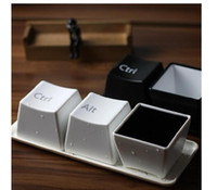 Wholesale 2014 Fashion Creative Design Keyboard Cup Black White Coffee Mug Minimalist Style for Gifts sets Fedex