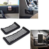 Wholesale Size S L Univesal Car Styling Car Net Storage String Bag Automotive Interior Net Organizer Pockets Net Pocket With Adversive K1342