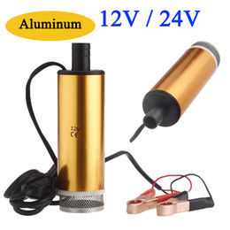 Wholesale Aluminum Golden DC V V Diesel Submersible Oil Pumps Water Oil Fuel Transfer Refueling Pump Car Camping Fishing Diving K1203