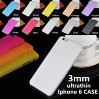 pp plastic case - For iphone Plus S s Case Ultrathin High Quality Ultra thin crystal Clear PP pc case iphone6 transparent Gel cases DHL shipping
