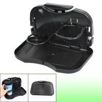 folding tray - Car Backseat Folding Tray Snack Dinner Table Desk Drink Cup Holder Black