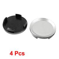 car wheel hub cap - 4 Car Hood Emblem Wheel Center Hub Caps Covers Gray mm Dia Lug