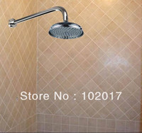 Cheap free shipping set of 200mm round overhead shower head with arm 310b02