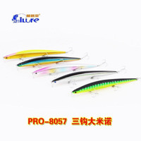 Wholesale Sea Lure Slender Shape Lure Minnow Bait Fishing Lure Plastic Hard Bait Casting Spinner Bait Fishing Tackle China Hook Suspend