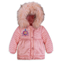 Wholesale Retail NEW Girl Winter Fur Outerwear Frozen Anna and Elsa Hooded Coat Children Jacket Kids Down Parkas C002