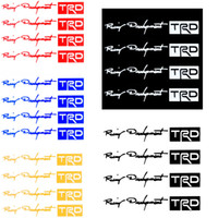 Wholesale 4Pcs set colors TRD Car Sticker Auto Car Handle Door Knob Stickers Decals Reflective White car Accessories K919