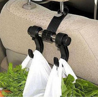 Wholesale 2 in Auto Car Venhicle Seat Bag Hook Car Seat Headrest Hanger Holder Bags Organizer Accessories Black K965