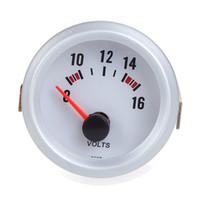 auto voltage gauge - Voltage Meter Gauge Voltmeter for Auto Car quot mm V Blue LED Light K1071