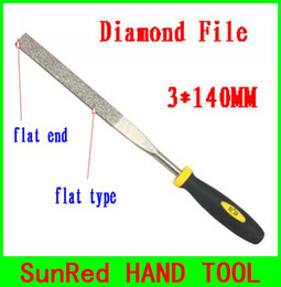 Wholesale SunRed BESTIR taiwan excellent quality mesh MM flat end flat type diamond file metal trim prune work tool NO