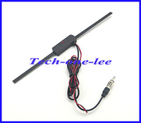 Wholesale 5pcs Auto TV Antenna VHF UHF System db Booster Car Electronic FM Antenna db Gain Amplifier drop shipping