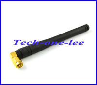 Wholesale 5pcs dbi MHZ Rubber Antenna With Right Angle SMA Male Plug Straight Connector