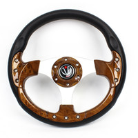 antislip coating - 32cm Dia Faux Leather Coated Antislip Steering Wheel Brown for Car