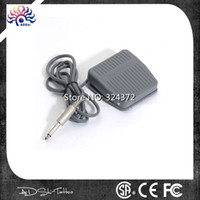 Wholesale Fashion New stye high quality gray plastic brand mini Stainless Steel Tattoo Foot Pedal Switch for Power Supply machine Cheapest