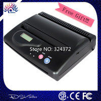Wholesale DHL Black Original USB Tattoo Thermal Transfer Copier Printer Stencil Machine use A4 transfer paper with big gift