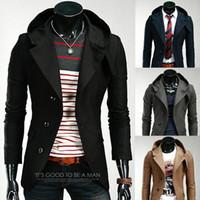 Wholesale Overcoat Wool coat Woolen winter Slim Single breasted color Men s Casual