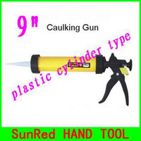 Wholesale SunRed BESTIR taiwan quality changable mouth quot manual plastic cylinder caulking gun for sausage type glue NO