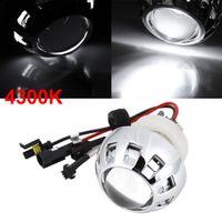 Wholesale 4300K Angel Eye Motorcycle HID Xenon Projector White Lens Lamp Kit w Harness