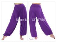 Wholesale Modal Women Harem Sports Yoga Clothing Pant Training Dance Pants Tai Chi Loose Trousers Ladies Boho Wide Leg Pant