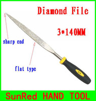 Wholesale SunRed BESTIR taiwan excellent quality mesh MM sharp end tool flat file diamond steel precision work hand tool NO